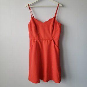 NWT Scalloped Orange Back Detail Dress